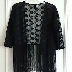 H&M Lace Embroidered Kimono